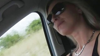 Alena was a hot hitchhiker who got  fucked in the car thumb