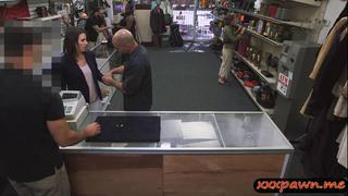 Some dueche bags wife sucks and gets nailed in the pawnshop thumb