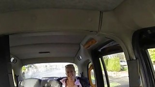 Busty Czech babe in fake taxi voyeur busty thumb