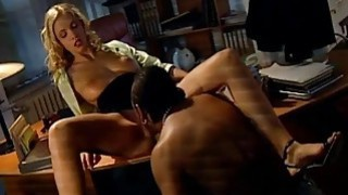 boss fucking his gf in the office thumb
