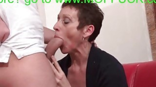 French mature cougar gets shaved and fucked hard thumb