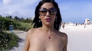 Pretty darling mesmerizing guy with her blowjob thumb