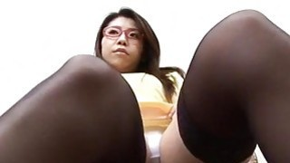 Mizuki Ogawa girl with glasses gets threesome sex thumb