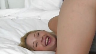 Lovely sweet babe Goldie Oritz with a cock thumb