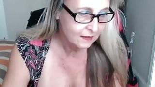 Beauty granny with big tits solo masturbation thumb