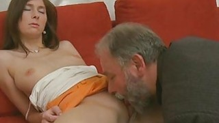 Young sweetie enjoys rear_fuck with old chap thumb