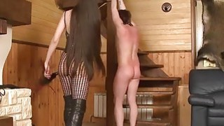 Russian Dominatrix Whipping Her Sub thumb