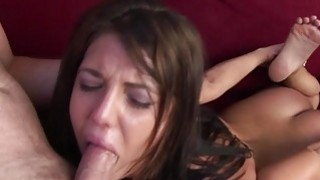 Brunette babe_gets throat fucked thumb