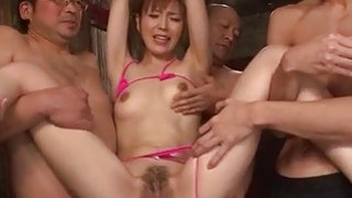 Toy porn experience for obedient Japanese Saori thumb