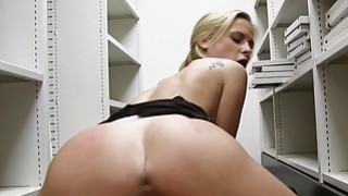 Sexy office babe pounded in pov style thumb