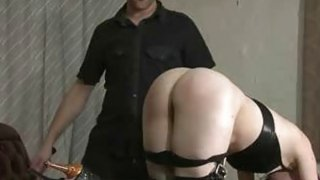 Hot wax and spanking for slave Fae thumb