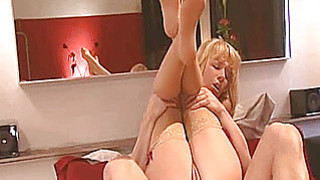 Amateur blonde Milf anal action with cum thumb