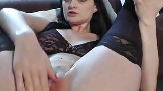 GIANT black dildo for her tight nasty pussy thumb