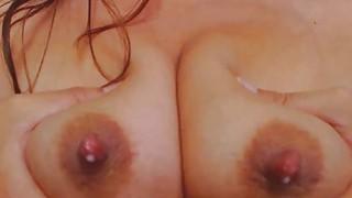 Horny Mom Milks Herself And Fucks Dildo thumb