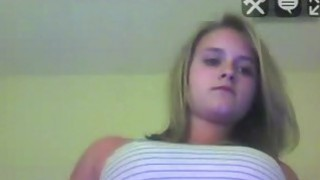 Blonde teen do_sexy a show on the webcam, and starting undressing thumb