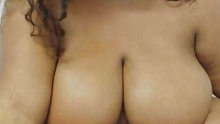 BBW Ebony Plays_With Monster Tits And Pussy thumb