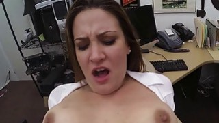 Foxy business lady pounded by pawn guy thumb