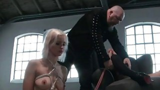 Two horny sluts tied up and_used xxx thumb