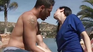 Hot stepmom Savannah Fyre pounded hard by her stepsons cock thumb