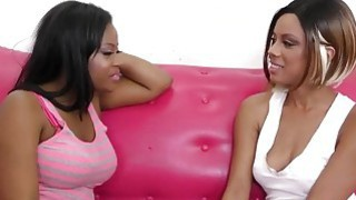 Gorgeous Ebony Babes Having Great Lesbian Action thumb