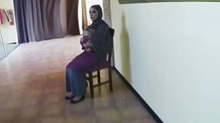 Shy Arab stuffed with a swollen cock inside her mouth thumb