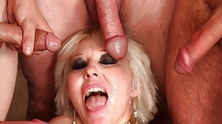 Mature blonde gangbanged bukkake thumb