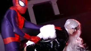 Spidey continues to bang The Black Cats pussy thumb