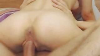 Hot Petite Babe Sucks And Rides His BF Cock thumb
