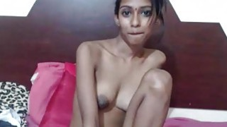 Amateur Skinny Indian Desi Teen Sins By Showing Big Tits On Webcam thumb