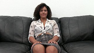 Hot casting for a sexy black babe thumb