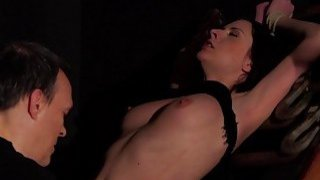 BDSM Hardcore Spanking Sex slave swallows cum sex thumb