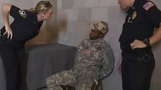 Fake Soldier Gets_Used as a Fuck Toy by female officers thumb