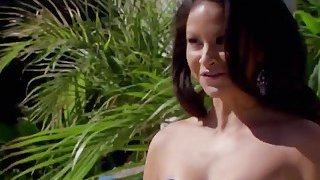 Body builder brunette best contender at playboy mansion reality sex show thumb