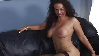 A lusty brunette MILF gets fucked hard by black photographer thumb