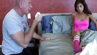 Trinity St Clair likes to take her stepdad's cock inside her thumb