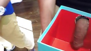 Teen chicks getting a surprise Dicks in the xmas box thumb