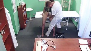 Doctor pulls out sex toy from patients pussy thumb