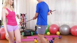 Russian Milf bangs young fitness coach thumb