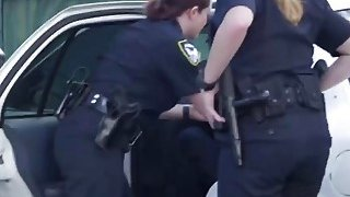 White female cops with huge butts and tits are fucking in threesome with black men thumb