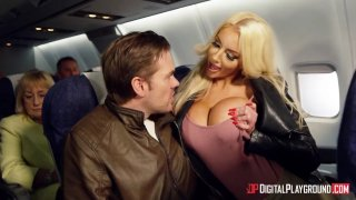 Horny sluts turn a passenger's flight in to playground for hardcore sex thumb