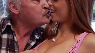 Old Man Falls In Love_With Beautiful_Young Redhead thumb