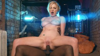 Busty MILF Georgie Lyall rides the black dick reverse cowgirl thumb