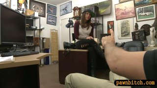 Pretty brunette woman railed by pawn guy thumb