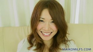 Wakana Asada gets_turned on in the car and blows cock in the house thumb