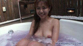 Hot jacuzzi with Japanese milf Yuriko Hiratsuka wait for you thumb