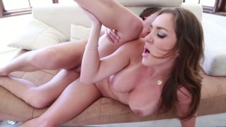 Horny brunette chick Kiera King sucks the dick deepthroat and gets rammed from behind thumb