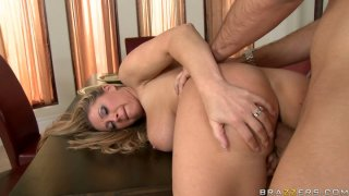 Jaw Dropping slut Devon Lee gives blowjob and gets doggy fucked thumb