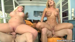 Two chicks Angel Vain and Nicole Aniston have fun with two guys thumb