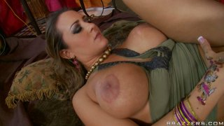 Busty slut Trina Michaels gets poked hard by Ralph Long in a missionary position thumb