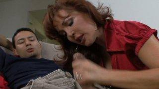 Redhead milf Vanessa gives great blowjob thumb